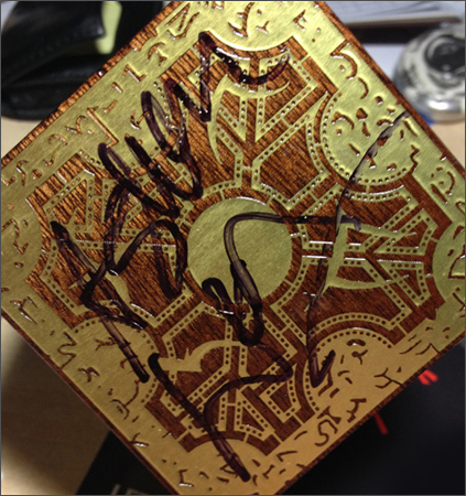 Ashley Laurence Signed Hellraiser Puzzle Box