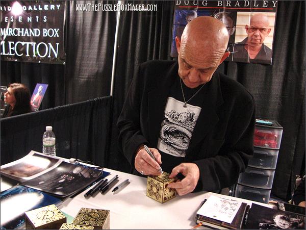 Doug Bradley Signing Puzzle Boxes